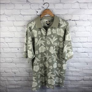 Tommy Bahama 100% Cotton Collared 3 button Shirt L